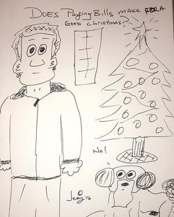 Does that work_ #christmas #holidays #dog #humor #logic #sad #life #bills #paid