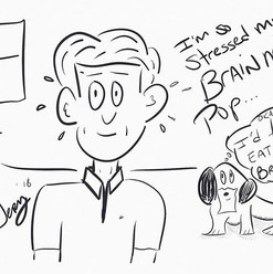 #stress #dog #eat #life #pop #cartoon #f