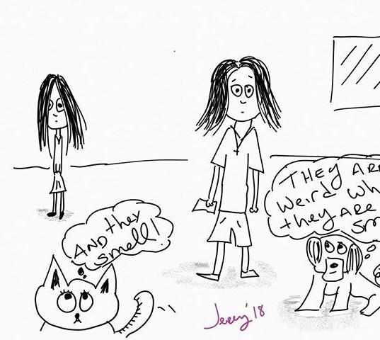 #weird #kids #dogs #smell #dad #cartoon