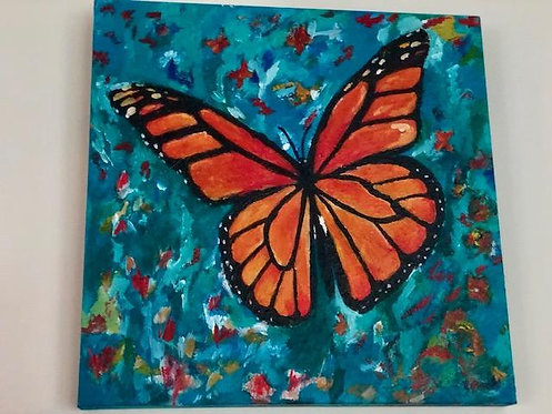 Monarch Butterfly Original Painting