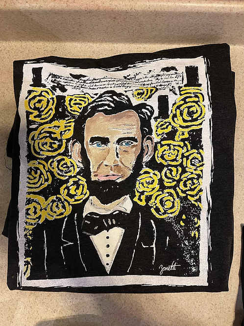 Lincoln Shirt -Hand Painted