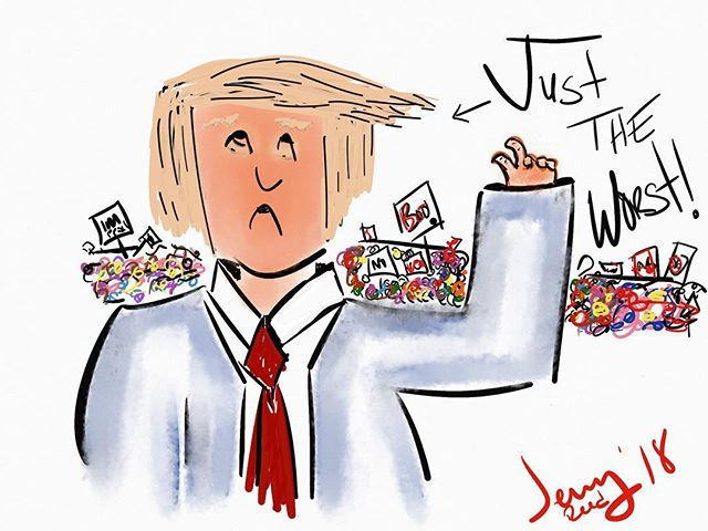 #trump #worst #art #hate #cartoon #thera