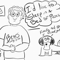 #bedofpizzas #pizza #bigguy #dad #dog #s