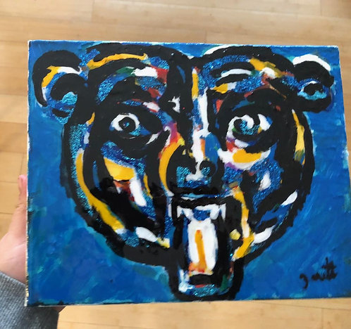 Bear original painting with Gloss