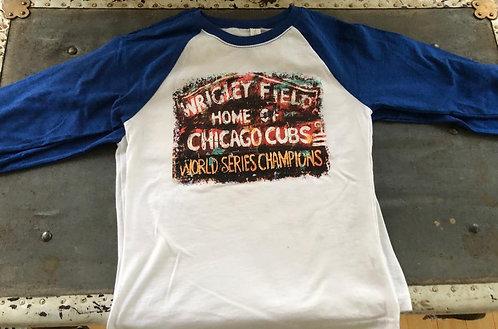 Cubs Wrigley Marquee -  Kids Baseball shirt