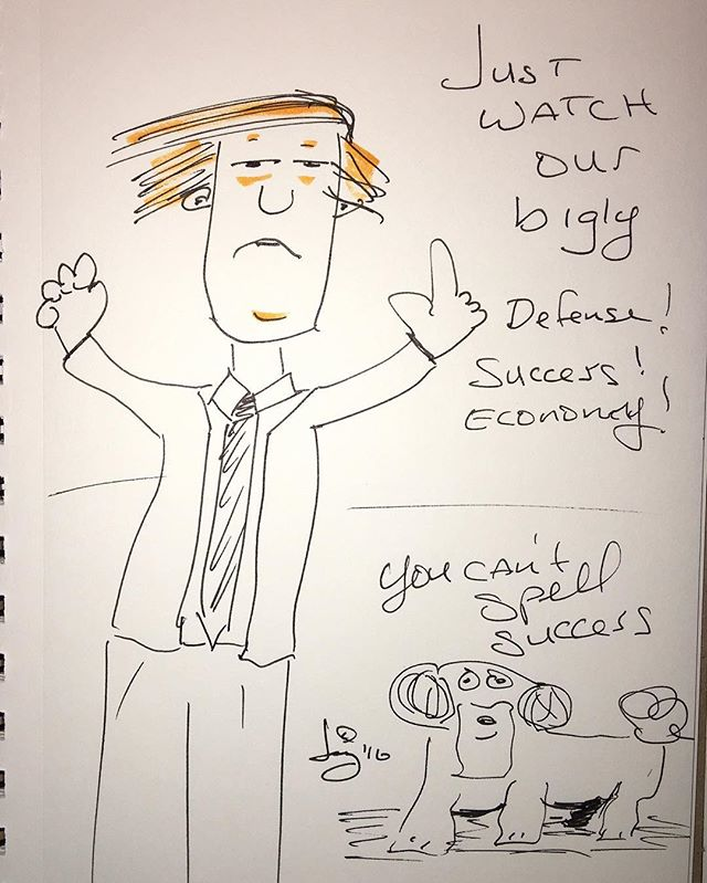 #bigly #trump #cartoon #humor #2016 #dog #fact