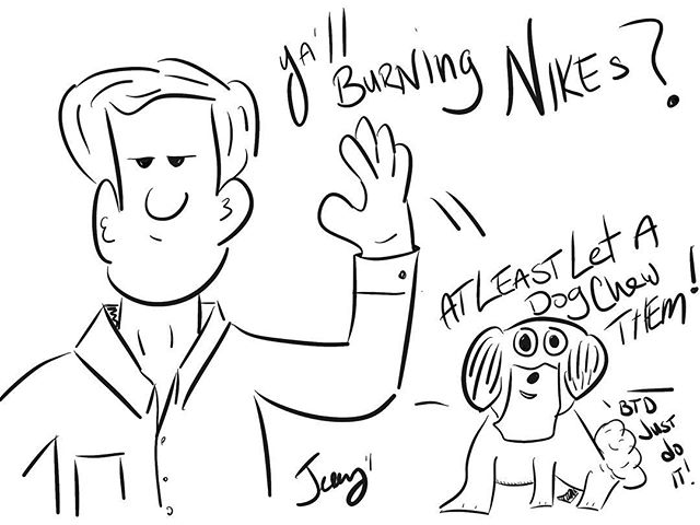 #justdoit #dog #burn #Nike #chew #really