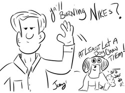 #justdoit #dog #burn #Nike #chew #really