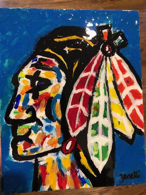 Blackhawks original painting with Gloss