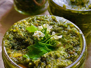 Wild Garlic Mustard Pesto -Best Ever !