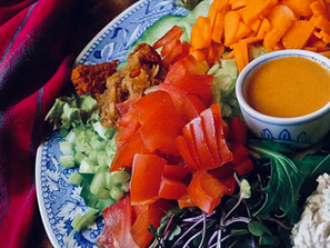 Salad with Carrot Ginger Dressing