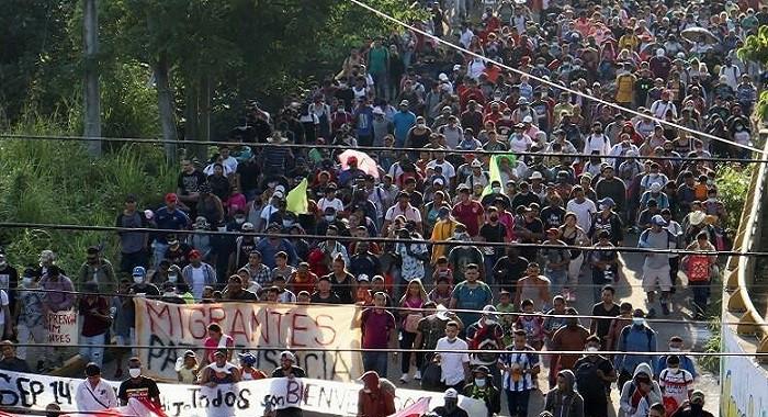CNDH acompaña el recorrido de la caravana migrante  para que se respete su integridad