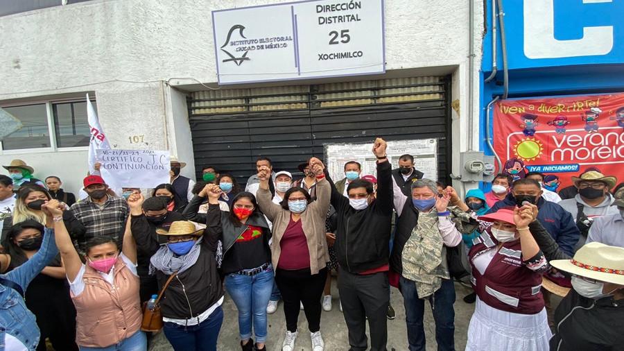 Morena gana la Alcaldía de Xochimilco con una diferenia de 1,727 votos