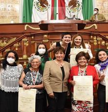 """Congreso de la CDMX entrega Medalla """"Hermila Galindo a mujeres luchadoras sociales"""