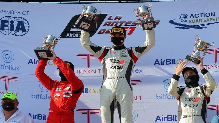 Noel León, campeón absoluto del GP Querétaro de la FIA Fórmula 4 NACAM Championship