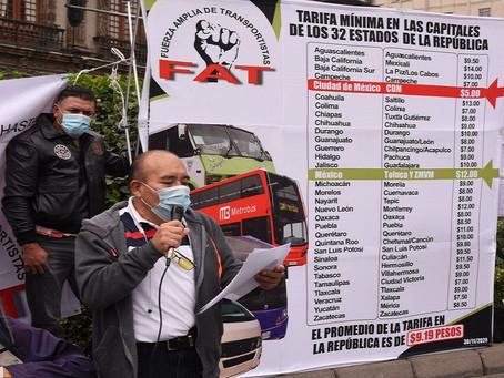 Tarifa del transporte concesionado en la CDMX es 46% menor al resto del país