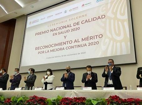 SSG recibe Premio Nacional de Calidad en Salud 2020