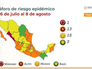 Entra en vigor actualización del Semáforo de Riesgo Epidémico en México