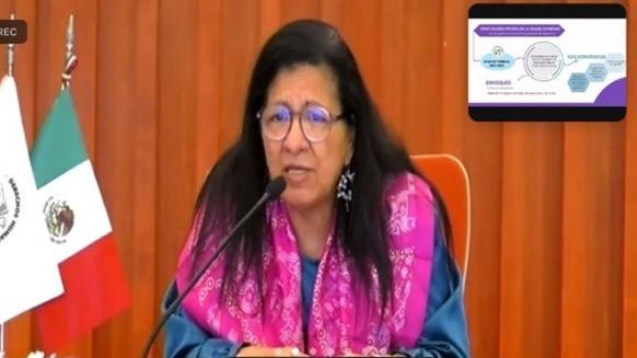 Nashieli Ramírez Hernández comparece ante el Congreso de la CDMX para el proceso de su reelección
