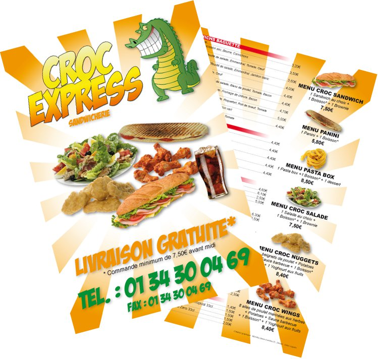 Flyer menu Croc Express