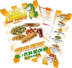 Flyer menu Croc Express