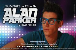 Flyer pour DJ Alan Parker