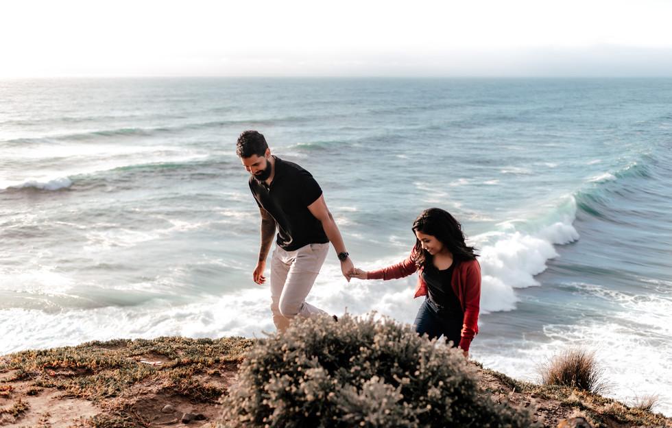 Adventurous Wedding Proposal Ideas | Proposal Rock by Helicopter Auckland New Zealand - www.zanthevorsatzphotography.com