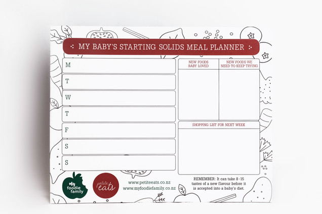 My foodie family meal planner - My baby is starting solids