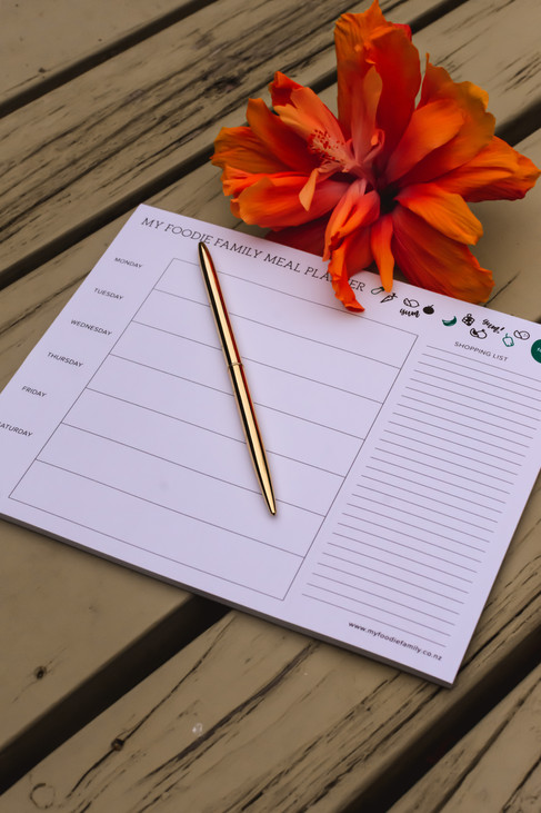My foodie family meal planner
