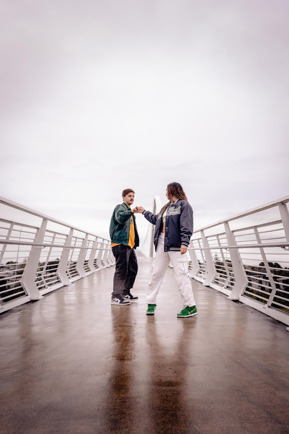 Couples photoshoot of two dancers in Auckland