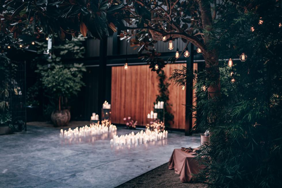 Candlelight Proposal Ideas    The Glasshouse Morningside Auckland New Zealand - www.zanthevorsatzphotography.com