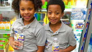 8-Year Old Twin Siblings Launch New Bottled Water Company for Kids