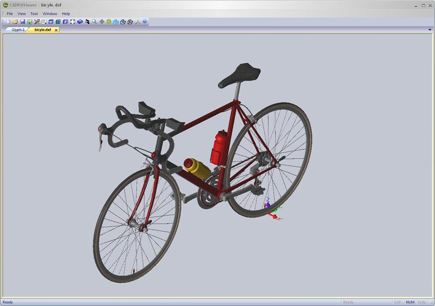 Imagem de exemplo do CADKit, visualizador DXF