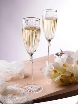 Orianna champagne flutes