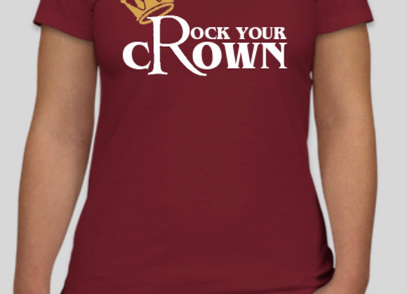 Rock Your Crown Fitted Tee