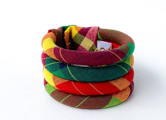 Madras Statement Bracelet