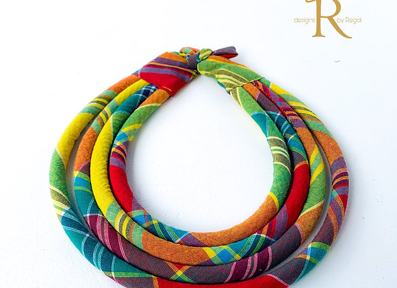 Madras Statement Rope Necklace