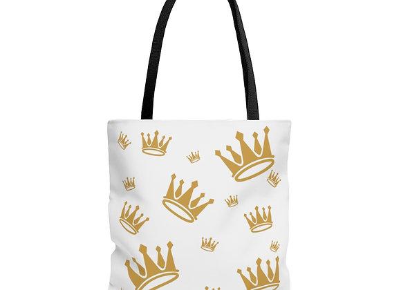 Regal Crown Logo Tote Bag