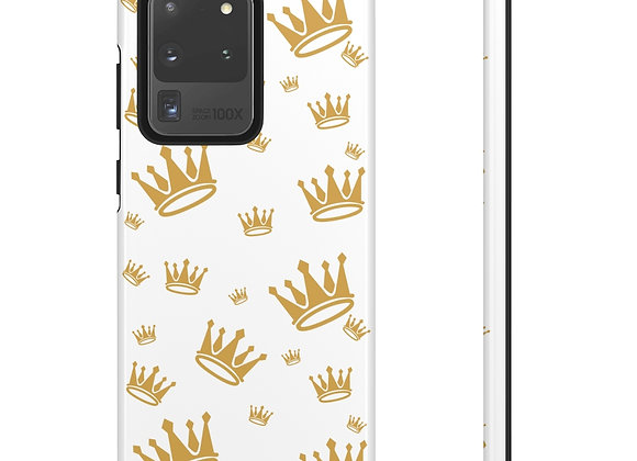 Regal Crown Logo Case - White/Gold