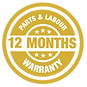 12 Months parts and Labour Warranty on H