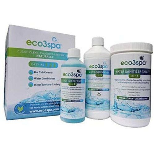 Chlorine free - eco3spa Hot Tub Natural Water Care Treatment Kit