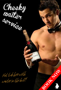 Hot Tub hire with cheeky waiter service from Hot Tub Hire Edinburgh