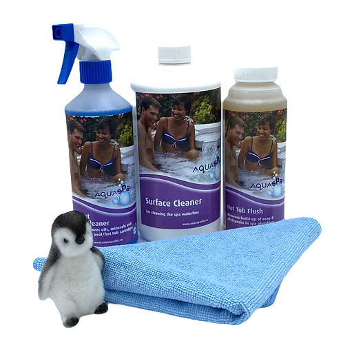 AquaSPArkle - Hot Tub & Spa Winterising Kit - Free surface cloth
