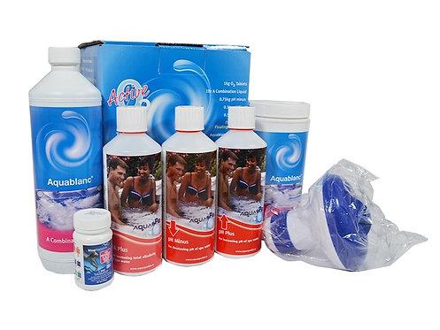 Chlorine free - Aquablanc Active Oxygen Spa Starter Kit
