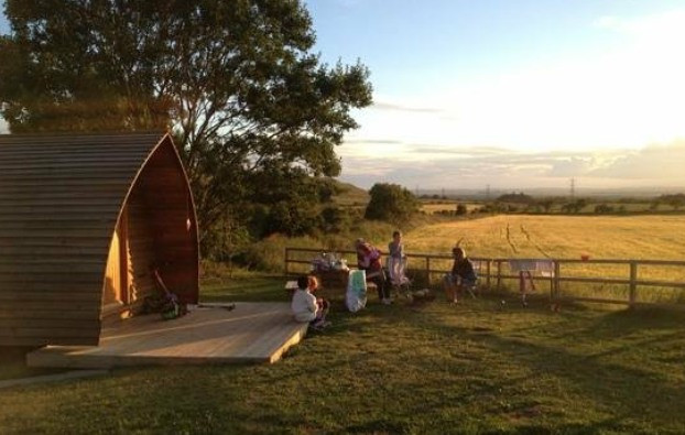 Make your wigwam trip truly memorable by staying at Hilly Cow Wigwams.  Come stay on Leyden a working farm in West Lothian, near Edinburgh.  Enjoy the comfort of camping in our heated wigwams, with the beautiful views of the Forth Valley and the Pentland hills.