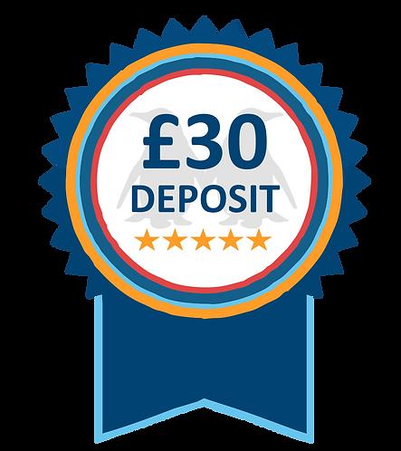 £30 Hot Tub Hire Deposit