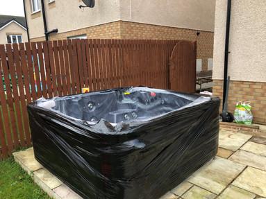 Wrap hot tub