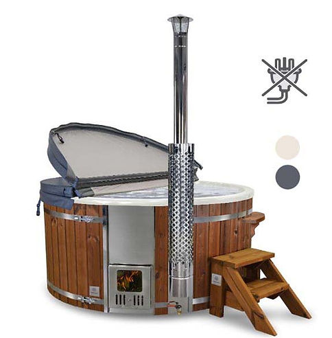 Gardenvity Classic Wood Fired Hot Tub All-inclusive Package, No Electricity Needed