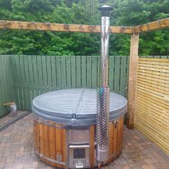 Wood fired hot tub by Penguin Spas Outdoor Living Ireland with Jets 3.JPG