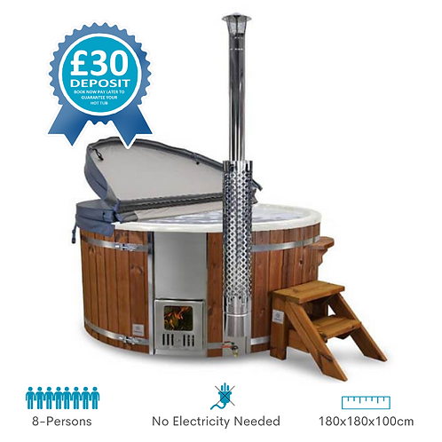 Classic Wood Burning Hot Tub Hire Deposit UK
